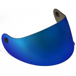 Viseira Spike Azul Metalizada