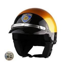 Capacete Kraft Custom Sheriff Dourado
