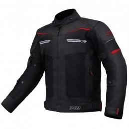 Jaqueta X11 Breeze Masculina Preta/Vermelha Ventilada (100% Impermeável)