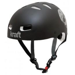 Capacete Kraft p/ Bike / Skate Caveira Preto Fosco