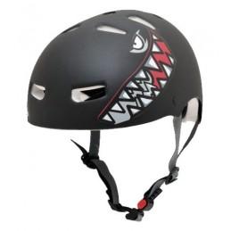 Capacete Kraft Bike/Skate Tubarão Preto Fosco