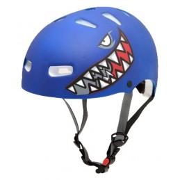 Capacete Kraft Bike/Skate Tubarão Azul