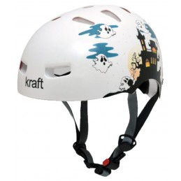 Capacete Kraft Bike/Skate Fantasminha Branco