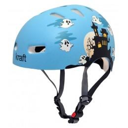 Capacete Kraft Bike/Skate Fantasminha Azul Claro
