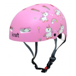 Capacete Kraft Bike/Skate Unicórnio Rosa