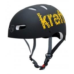 Capacete Kraft Bike/Skate Kraft Preto/Amarelo