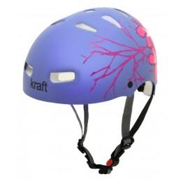 Capacete Kraft Bike/Skate Flor Roxa.