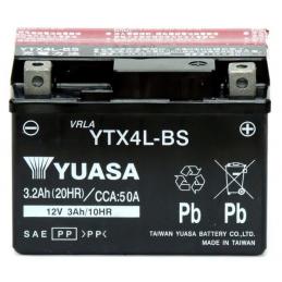 BATERIA YUASA YTX4L-BS 3Ah...