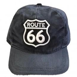 Boné Bordado C/ Route 66 Preto